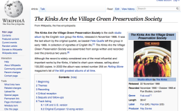 Link: The Kinks are the Village Green Preservation Society on Wikipedia.