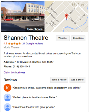 shannon on Google