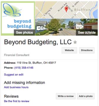Google listing update